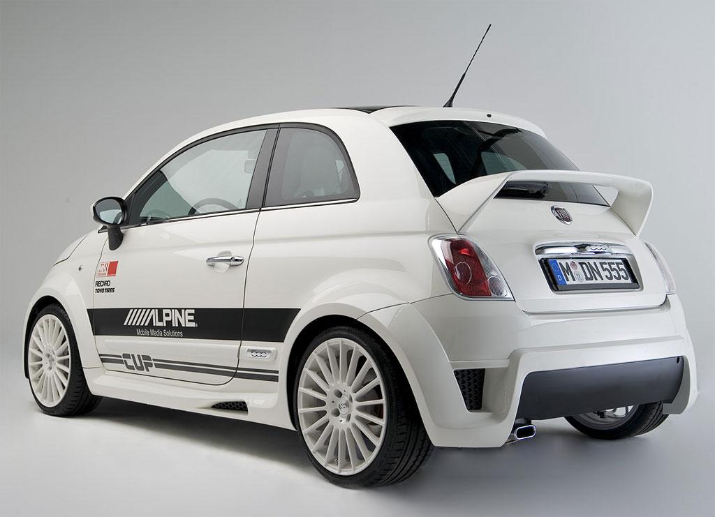 Alpine Fiat 500 rear spoiler