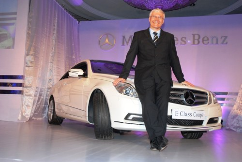 Dr. Wilfred Aulbur, CEO & MD, Mercedes Benz India, at the launch of E Class Coupe