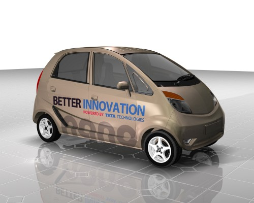 Tata Nano brown