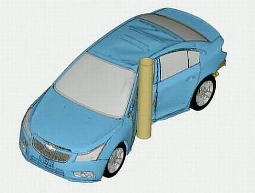 Chevrolet Cruze engineered using computer crash simulations