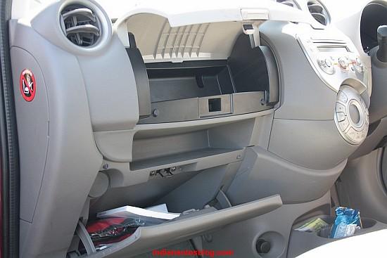 Nissan Micra glove box