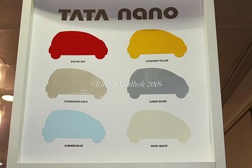 Tata Nano colors