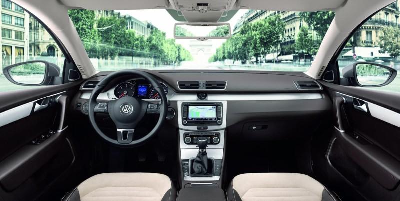 new VW Passat cabin