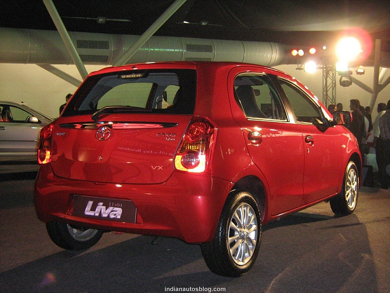 Toyota Etios Liva red rear