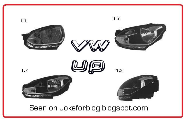 Volkswagen Up headlamp