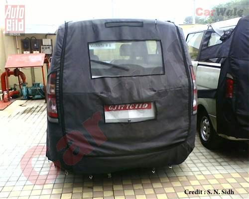 GM Hong Guang India rear spied