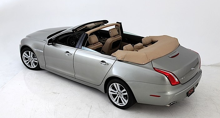 Jaguar XJ Convertible NCE top down