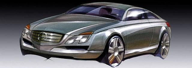 Mercedes Benz E-Class Coupe sketch