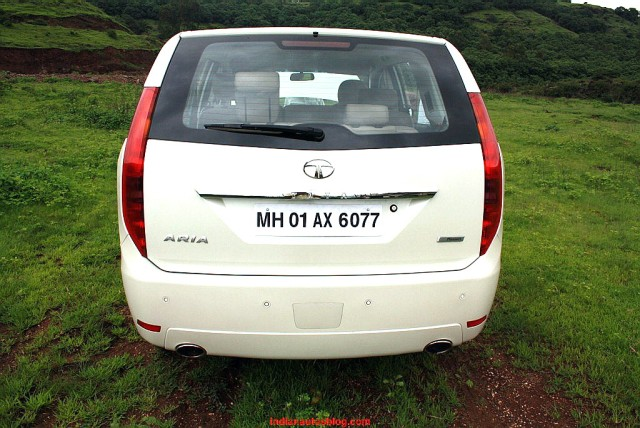 TATA ARIA rear profile