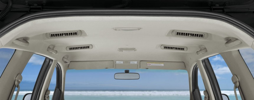 Toyota Innova Facelift roof-mounted blowers