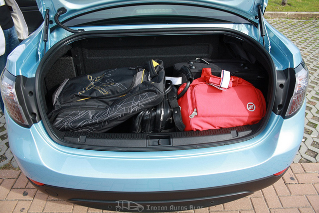 Renault Fluence ZE boot filled