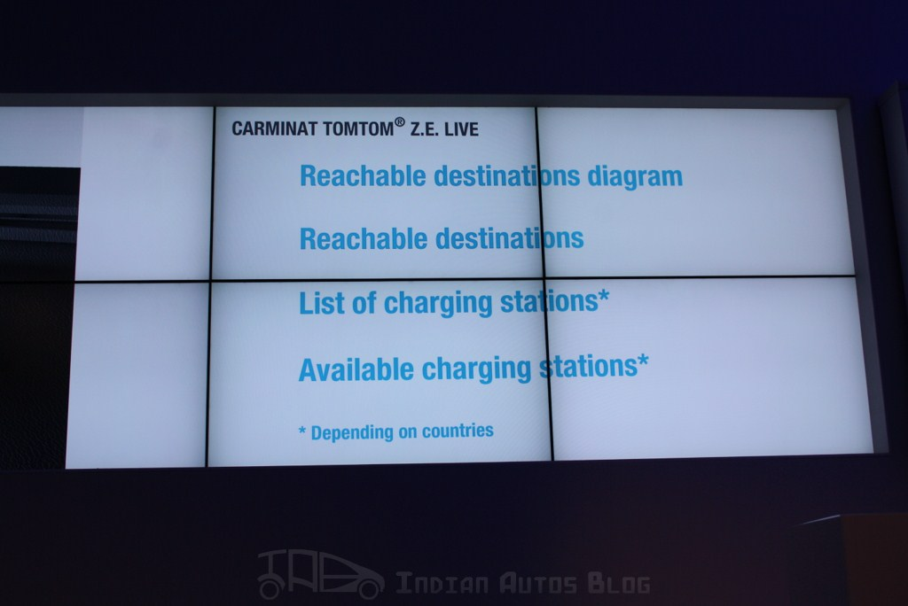 The navigation system also provides these details on the electric vehicle lineup