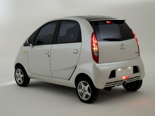 Tata Nano rear 3-4 view