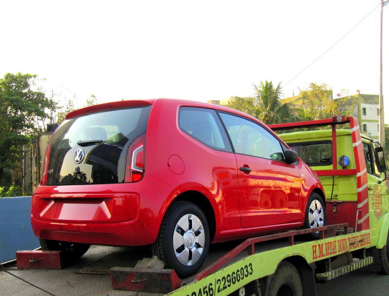 Volkswagen Up spotted in India