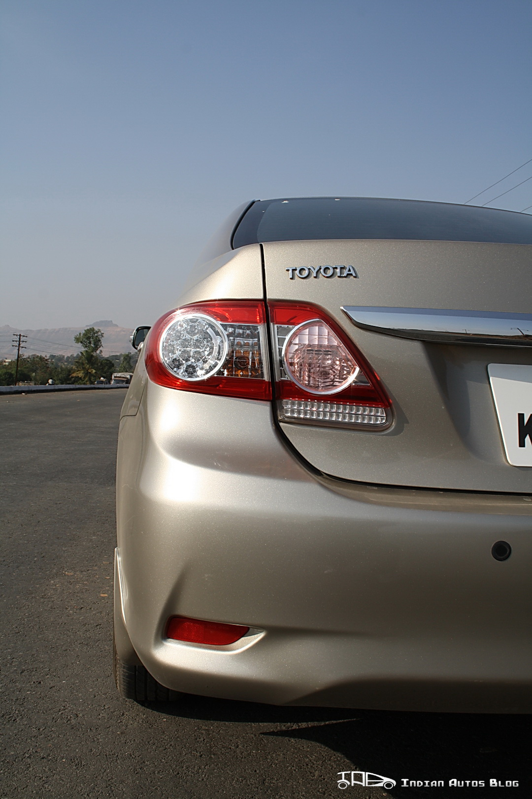 Facelifted Corolla Altis tail lamps