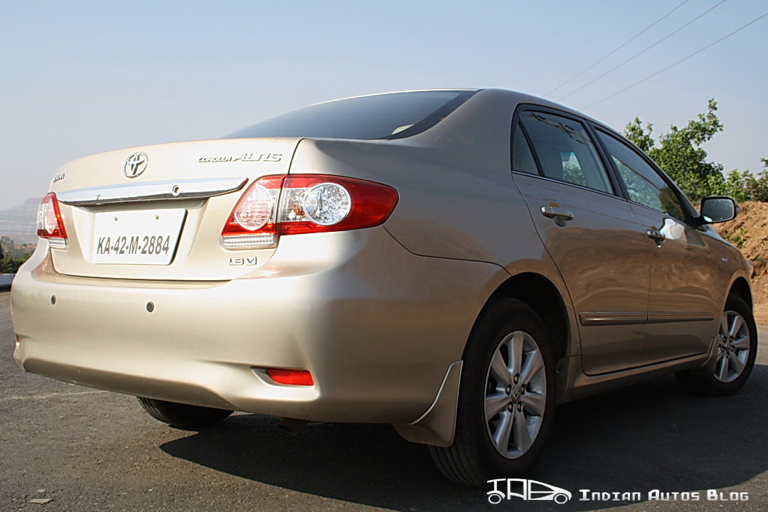 Facelifted Corolla Altis rear