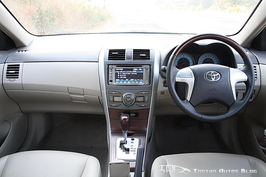 Facelifted Toyota Corolla Altis interiors