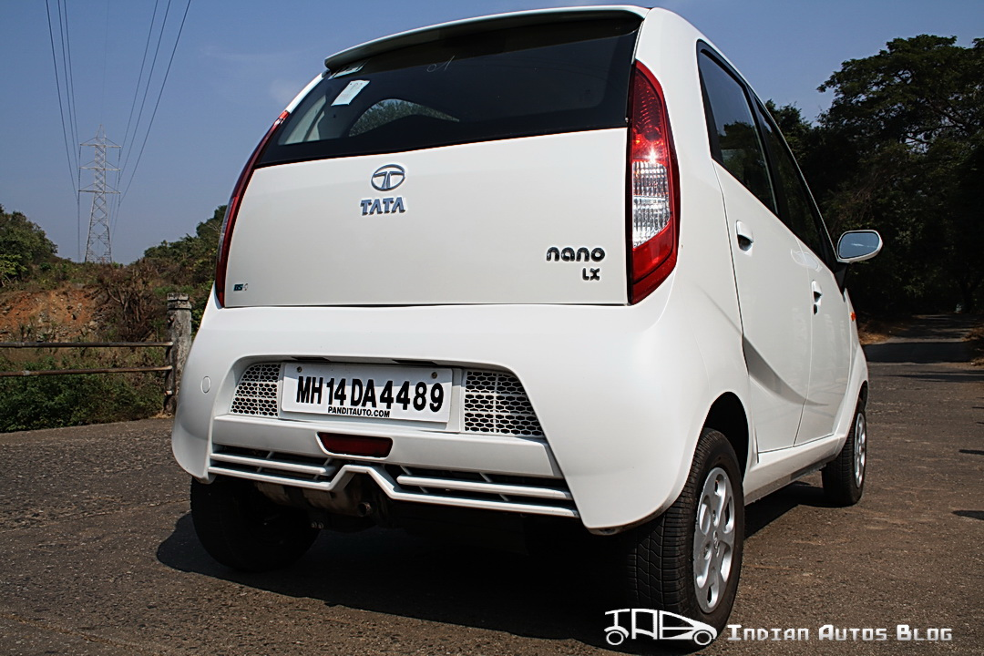 2012 Tata Nano rear profile