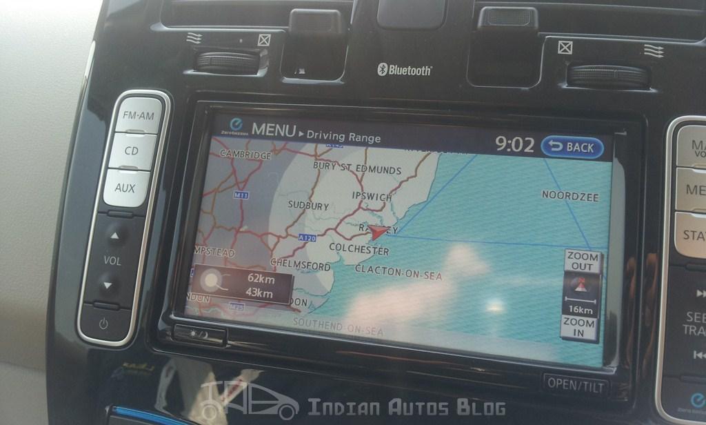 Nissan Leaf information screen