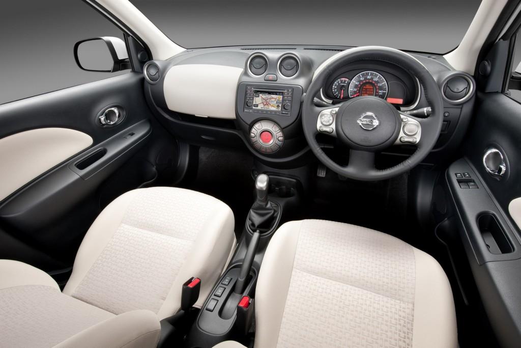 Nissan Micra Kuro Shiro interior