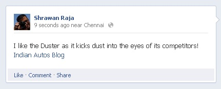 Duster facebook 2