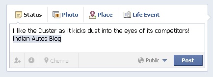Duster facebook