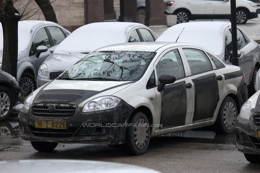 2013 Fiat Linea facelift front three-quarters