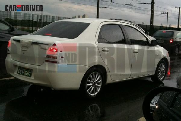 Toyota Etios testing in Brazil