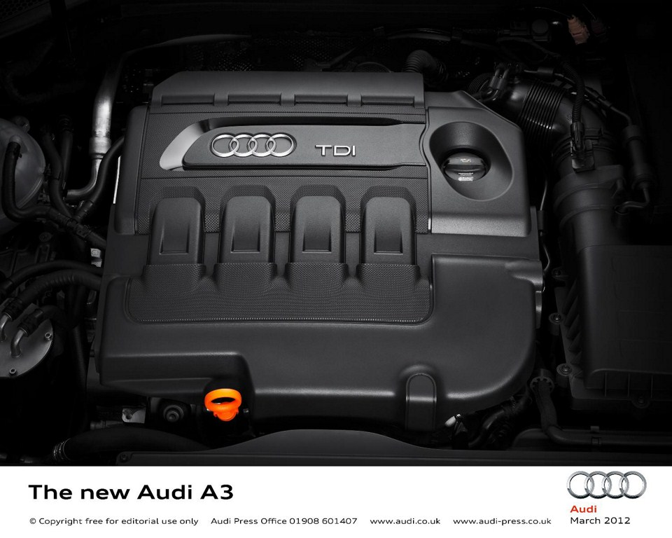 2013 Audi A3 at Geneva Motor Show 2012 engine