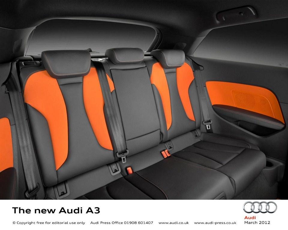 2013 Audi A3 at Geneva Motor Show 2012 rear seats