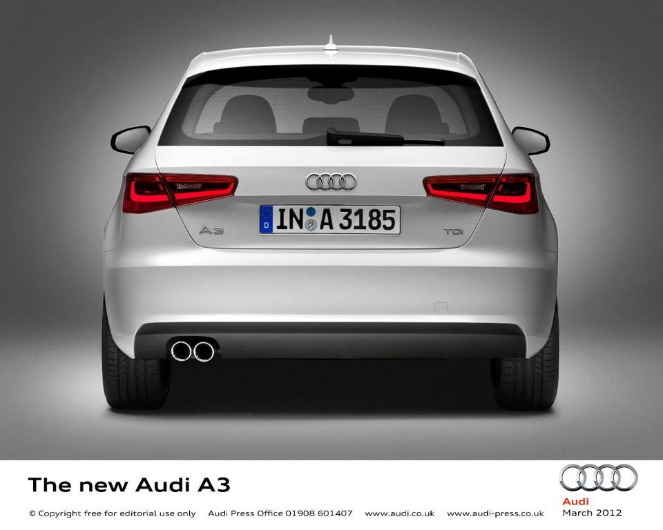 2013 Audi A3 at Geneva Motor Show 2012 rear fascia