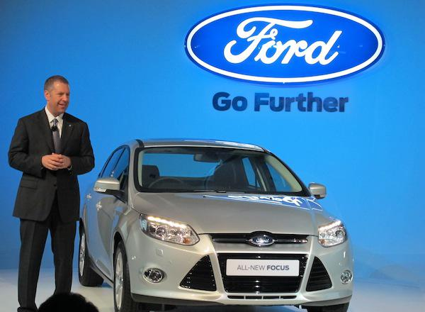 Joe Hinrichs, president, Ford Asia Pacific and Africa with the Ford Focus