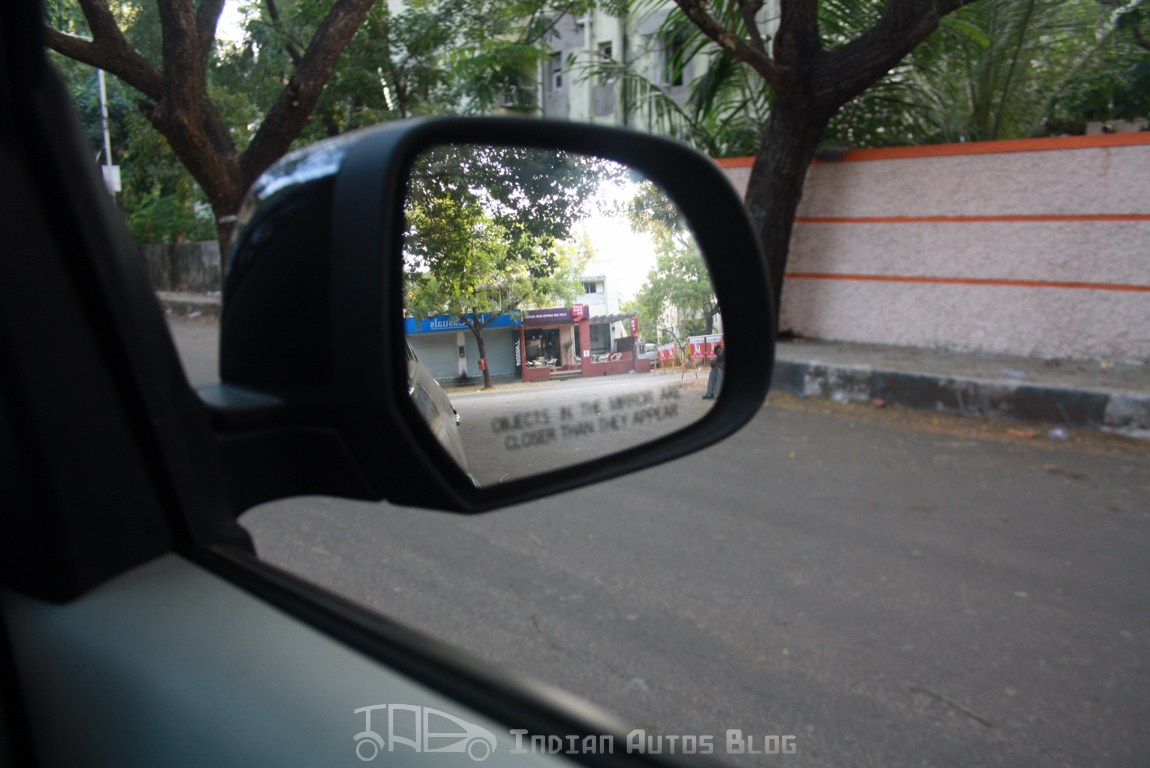 Width of the mirror can be increased, the view could be larger for better safety.