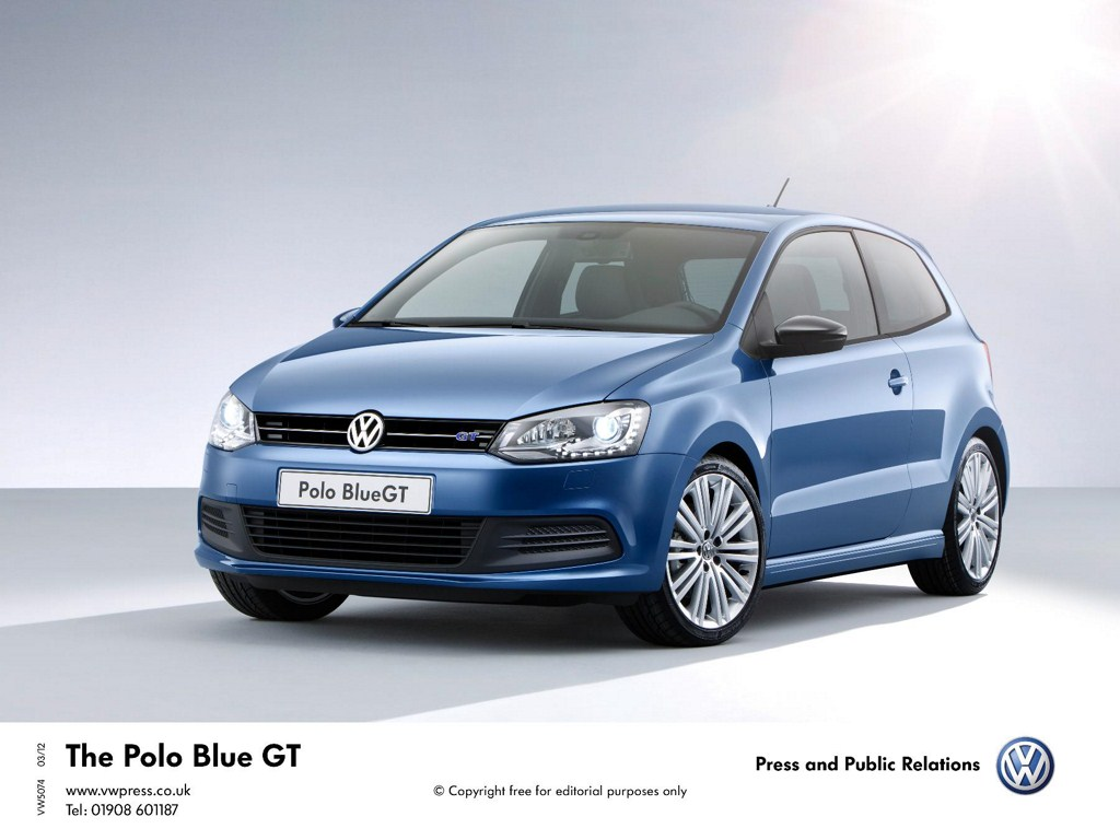 Volkswagen Polo BlueGT front three quarters