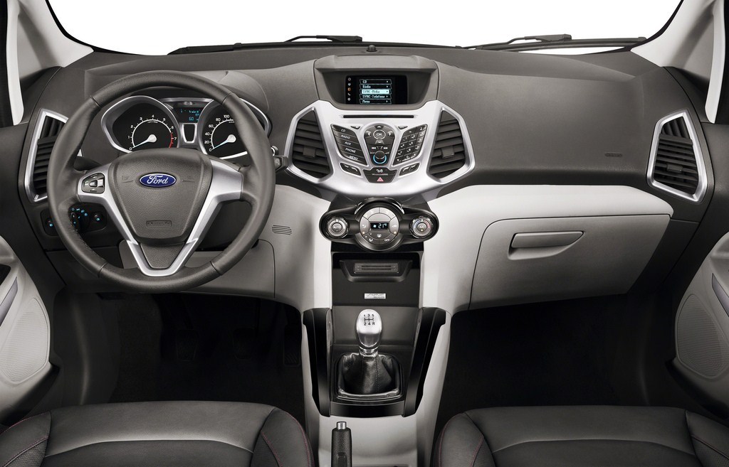Ford EcoSport press images dashboard