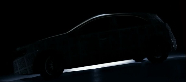 Future car camouflaged and teased