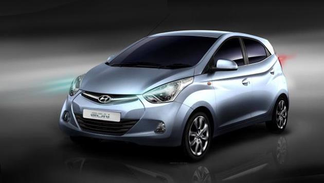 Hyundai Eon front fascia sketch