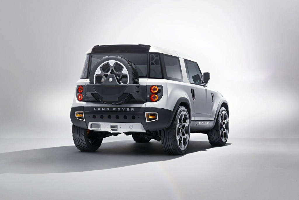 Land Rover Defender Concept 100 rear three quarters