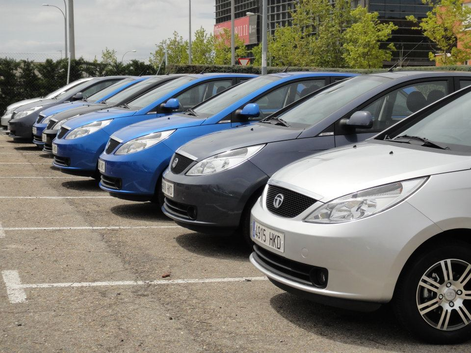 Tata Vista Spain launch - Fleet of cars