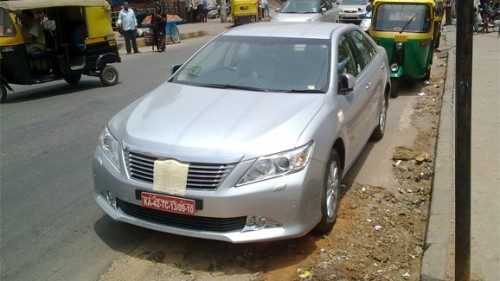 Toyota Camry spotted in Bangalore