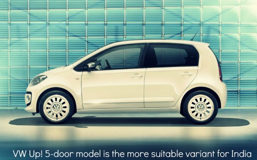 VW Up! 5 door model side view