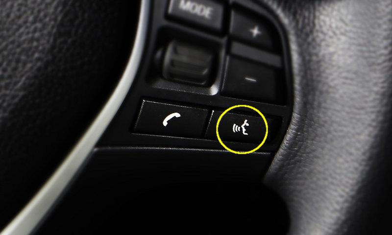 SIRI voice activated control button on the steering wheel
