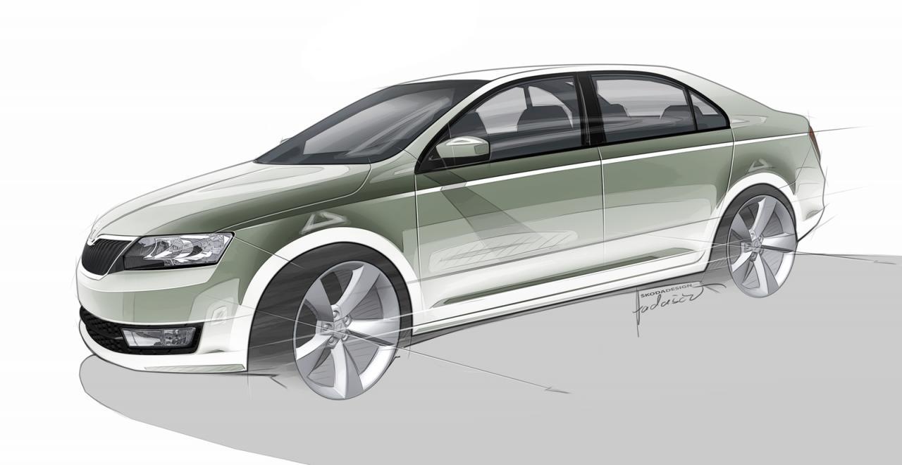 Skoda Rapid European version sketch