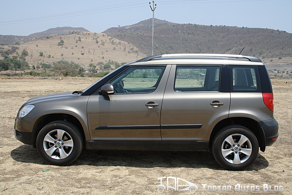 Skoda Yeti 4X2 side profile