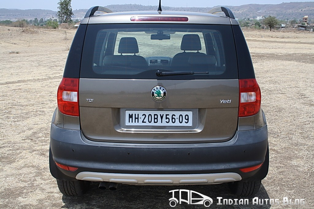 Skoda Yeti rear profile