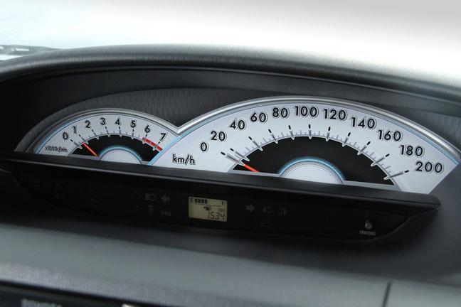 Toyota Etios instrument area