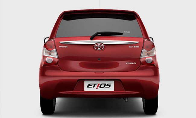 Toyota Etios hatch rear for Brazil