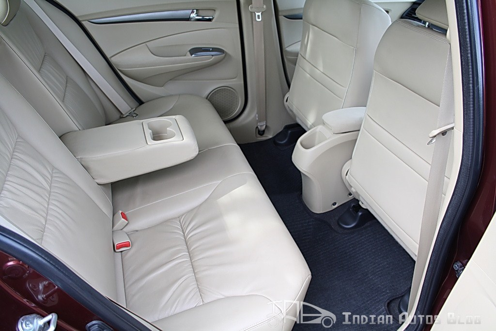 2012 Honda City rear seats