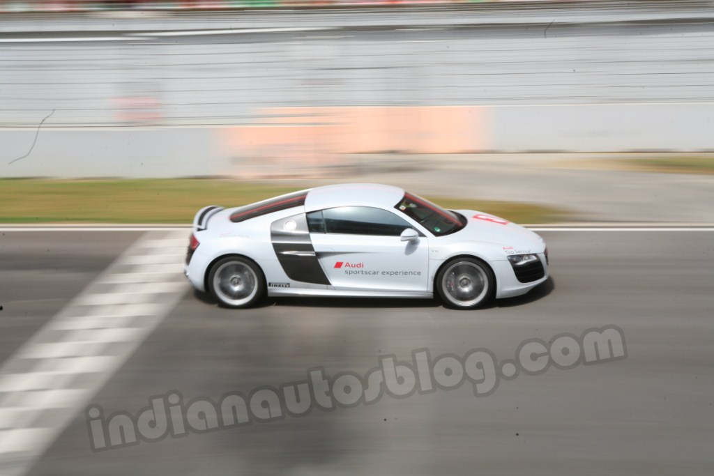 Audi Sports Car Experience Buddh International Circuit in motion