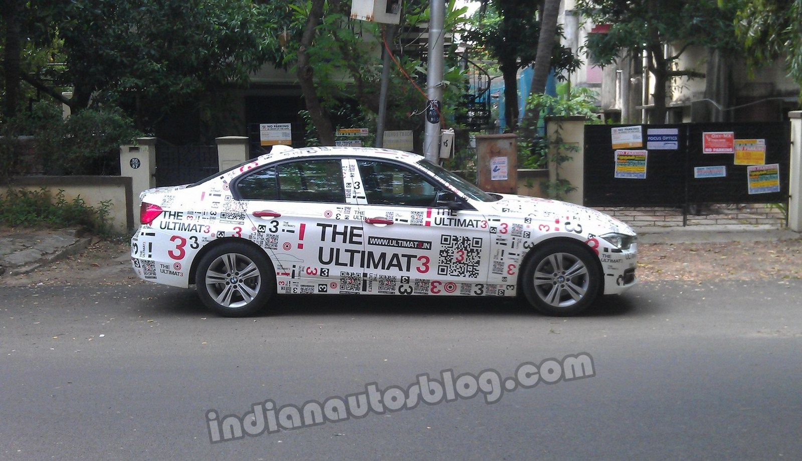 BMW 3 Series QR coded car